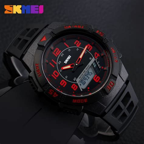 Skmei Sport Analog Led Water Resistant Ad1148 Jam Tangan jam tangan pria skmei sport led water resistant 50m ad1065 elevenia