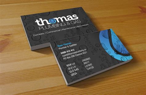 Plumber Business Card Template by Plumbing Gas Business Card Jpg 1400 215 920
