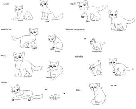 warrior cats fighting coloring pages warrior rank lineart by noxiouszombie on deviantart