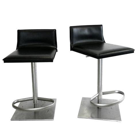 italian leather bar stools italian leather and steel height adjustable bar stool by