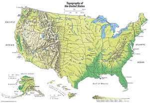 united states topographical map students britannica