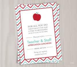Teacher appreciation invitation printable by dearhenrydesign