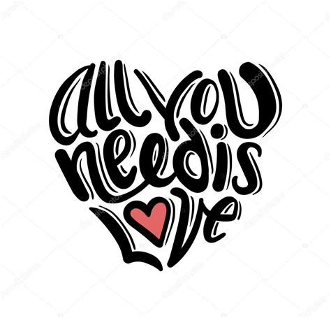 all you need is love vector stock vector