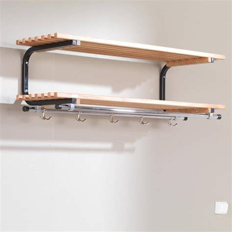 Wall Mount Rack Shelf by Wall Mounted Coat Rack With Shelves Aj Products