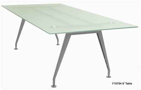Glass Meeting Table Frosted Glass Conference Tables 6 8 Sizes