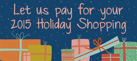 Holiday Shopping Sweepstakes - 500 holiday shopping sweepstakes