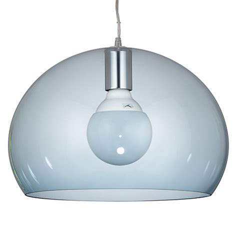 buy kartell fly small ceiling light sky blue lewis