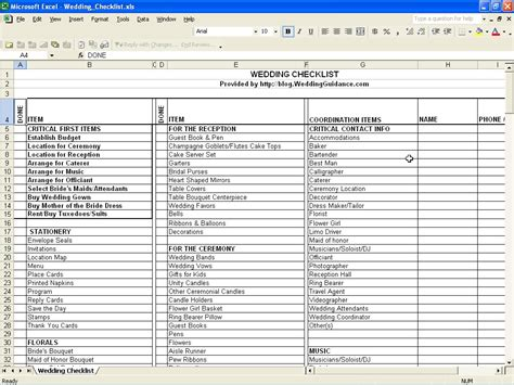 spreadsheet templates wedding budget spreadsheet apa examples