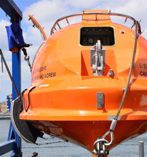 types of rescue boats specialised boats davits oceanwide davits unique group