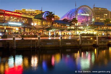 waterfront promenade  darling harbour  sunset image fine art landscape photography