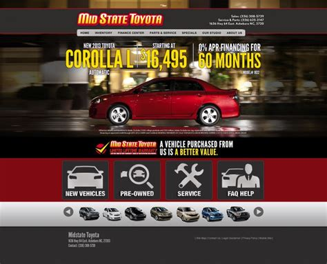 Midstate Toyota Midstate Toyota S Redesigned Website Our Work