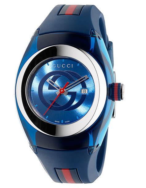 Gucci 2014 Blue gucci unisex blue sync stainless steel and rubber 36mm in blue lyst