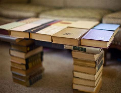 Coffee Table Made Of Books Creative Ways To Decorate Your Home With Books