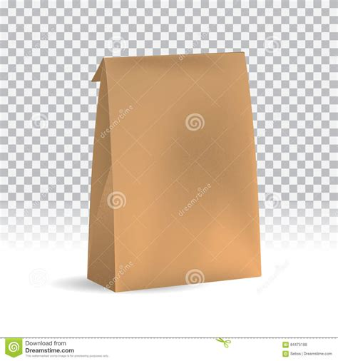 Craft Paper Packaging - food snack pack on transparent background blank craft