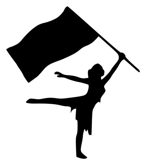 color guard flag rbs silhouette with flag scrappin sports stuff