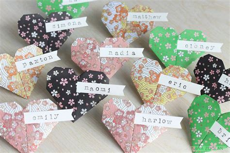 Origami Name Card - 20 origami paper name place cards handmade by