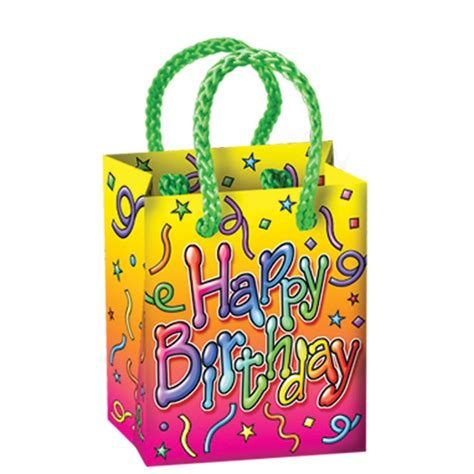 happy birthday mini gift bag favors qty of 48