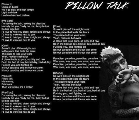 Lyrics Pillow Talk by Zayn Pillow Talk Lyrics Search Most Popular