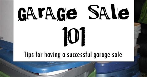 Garage Sale Buying Tips by Chic On A Shoestring Decorating How To A Successful