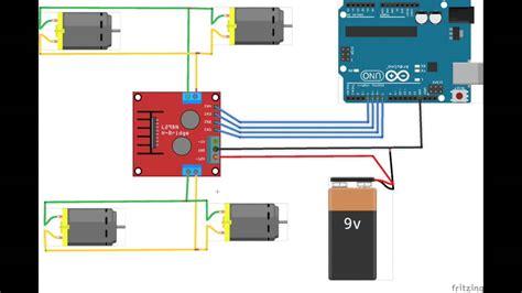 code arduino l298n l298n h bridge arduino 4wd youtube