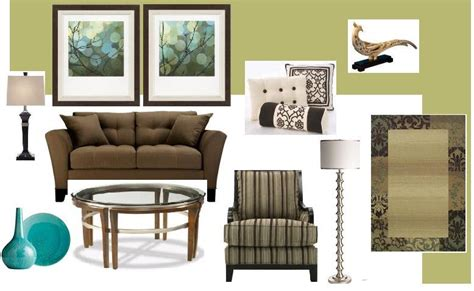 brown and green living room green walls brown couch simple home decoration
