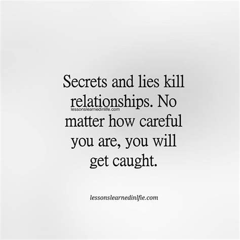 it takes a secrets and lies 5 books secret and lies kill relationships no matter how careful