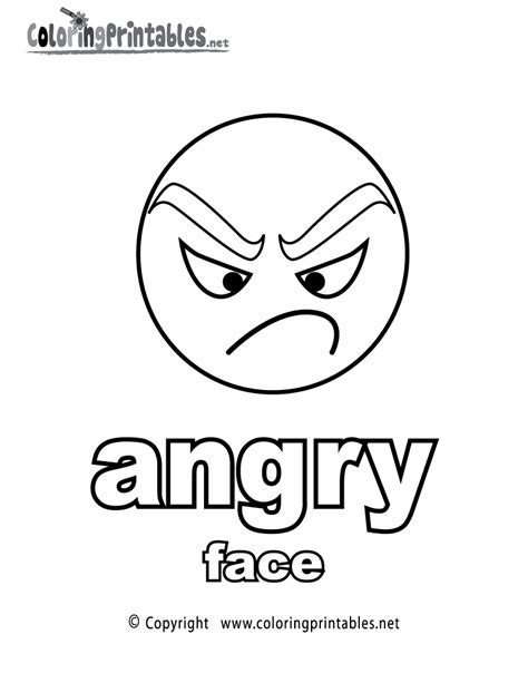 adjectives angry face coloring page a free english
