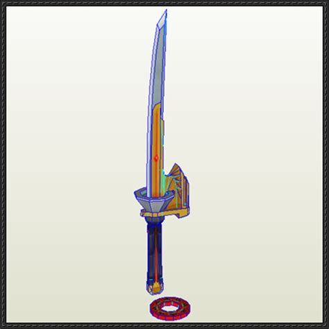 power rangers spin sword free papercraft