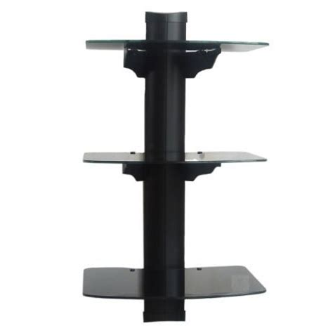 3 Shelf Wall Mount For Components by New Dvd Player Tv Av Wall Mount 3 Shelf Stand Cable Box Ebay