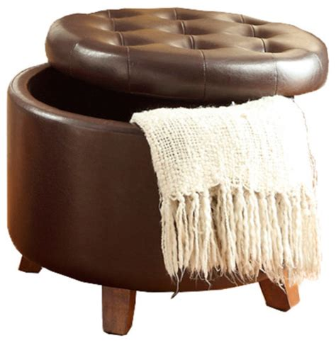 cute ottoman accent cute organizer round storage ottoman faux leather