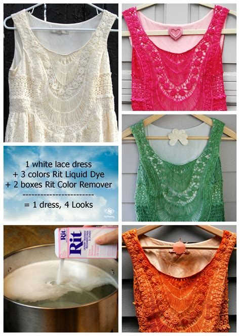 rit dye color remover 1 white lace dress 4 different looks with rit dye rit