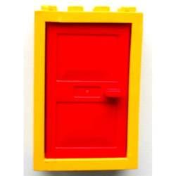 lego yellow door 2 x 4 x 5 frame with door brick owl