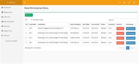 membuat website perpustakaan aplikasi perpustakaan berbasis web php mysqli
