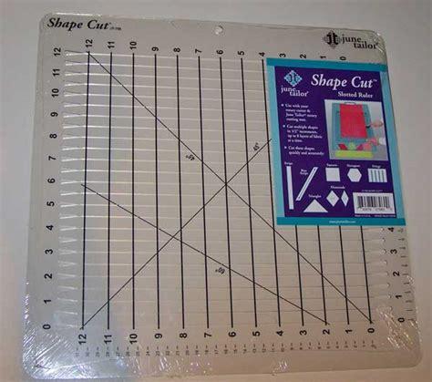 june tailor shape cut slotted 12 quot x 12 quot patchwork ruler ebay