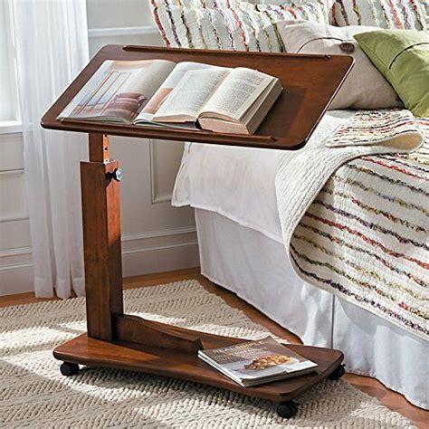 adjustable hospital bedside rolling bed tray table bedroom furniture laptop desk ebay
