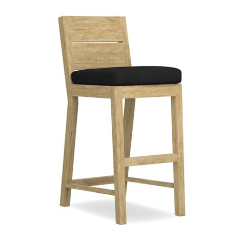 teak outdoor bar stools larnaca outdoor teak bar stool williams sonoma