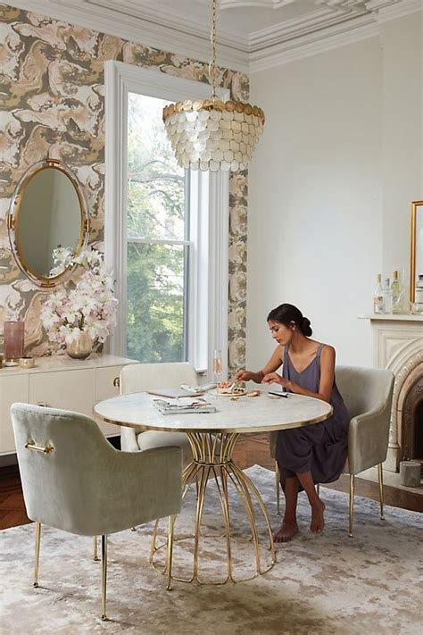 anthropologie dining room seaford pedestal dining table anthropologie