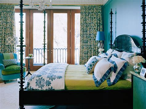 green and blue bedroom guest room guest bedrooms bedrooms design interiors