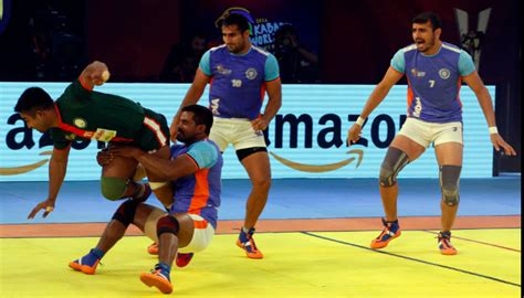india vs pakistan kabaddi kabaddi world cup 2016 india outmuscle bangladesh 57 20