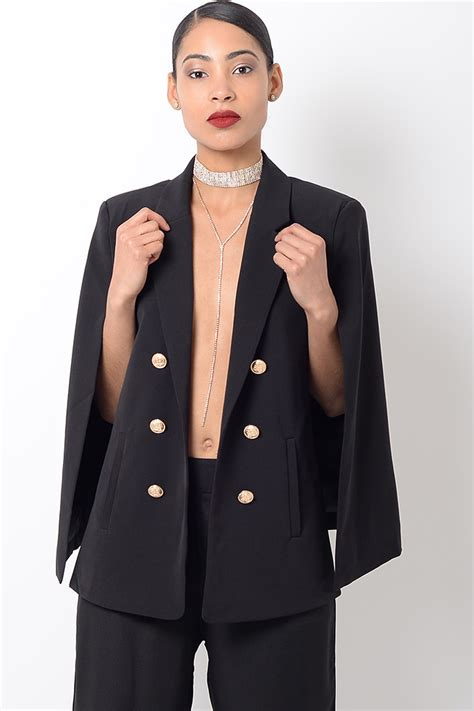 Cape Blazer Jacket Jaket stylish black cape blazer stylish jackets coats tailored blazers