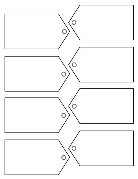 Free Printable Tags Templates   Printable template 2017