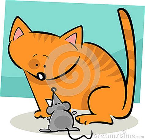 Doodle Dos Desenhos Animados Do Gato E Do Rato Imagens De