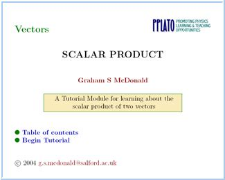 tutorial vector and scalar opinions on product mathematics