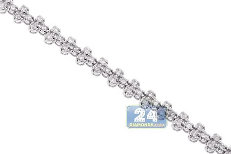 diamond tennis bracelet in 18k white gold 2 blue nile 18k white gold 2 27 ct diamond womens tennis bracelet 7 inches