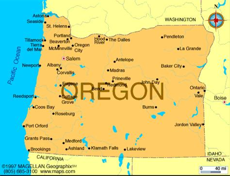 us map oregon state oregon map infoplease