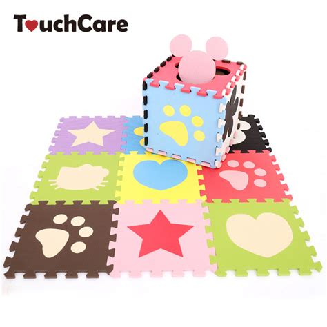 Puzzle Evamats 30 Cm X 30 Cm Motif Gambar Hewan 30 30 1cm flower pattern baby mat puzzle educational baby play learning mat
