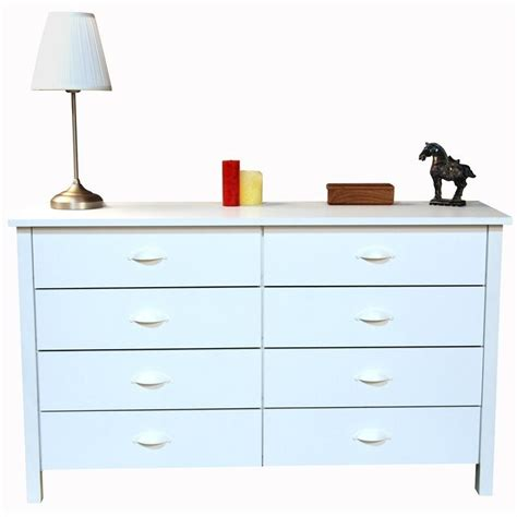 White Lowboy Dresser by 8 Drawer Lowboy Dresser In White 3117 11wh