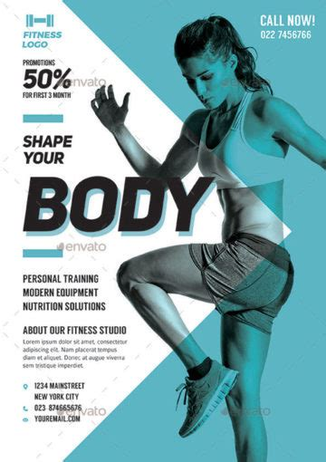 Download The Best Fitness And Gym Flyer Templates For Photoshop Fitness Flyer Template