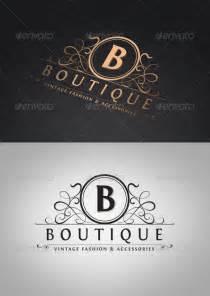 vintage boutique logo template graphicriver