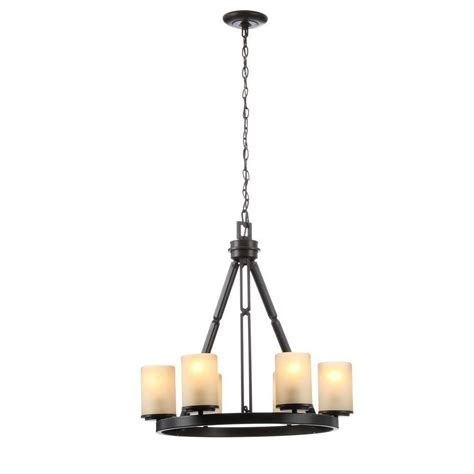 hton bay alta loma chandelier hton bay alta loma 6 light ridge bronze chandelier